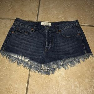 Free People Button Fly Shorts Size 25